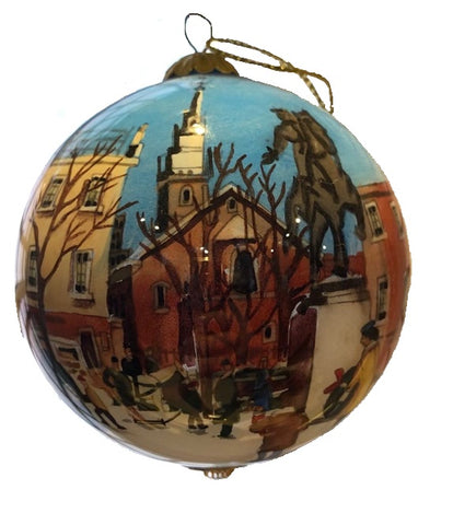 Glass Church Ornament