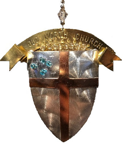 Episcopal Shield Ornament