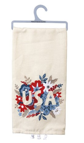 Floral USA Towel