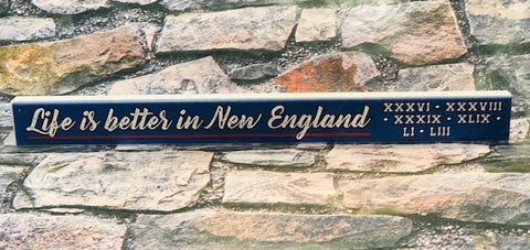 Life is Better in New England Sign