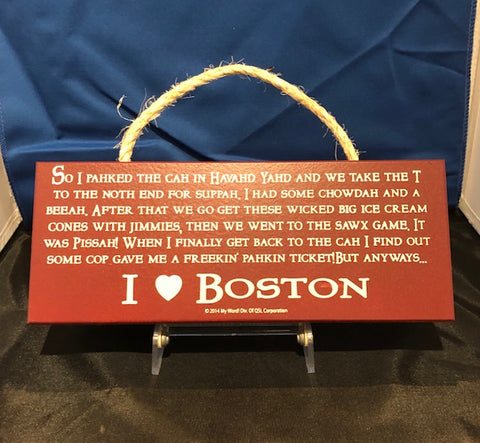 I Love Boston Sign