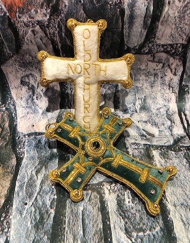 Teal Cross Ornament