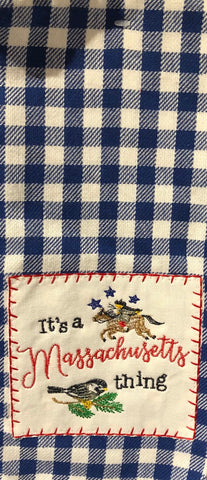 It's a Massachusetts Thing Gingham Towel