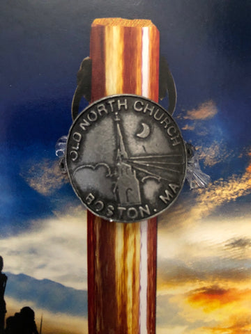 Old North Beacon Hiking Stick Medallion