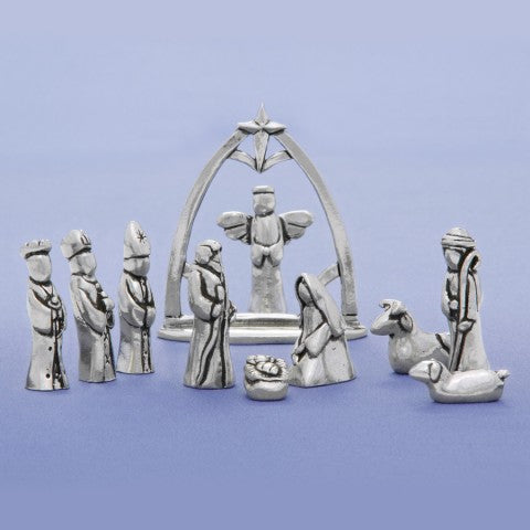11 Piece Pewter Nativity Set