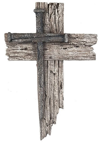 Nail Cross Wall Plaque