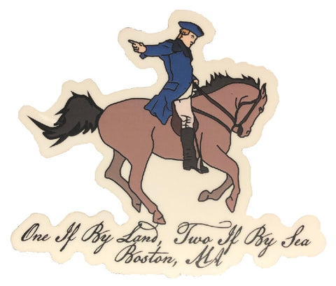 Revere One if By Land Sticker