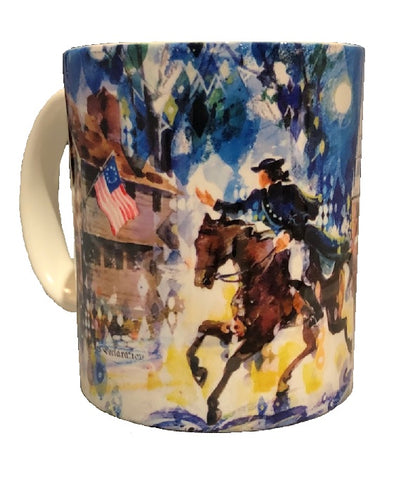 Revere's Ride Watercolor Mug
