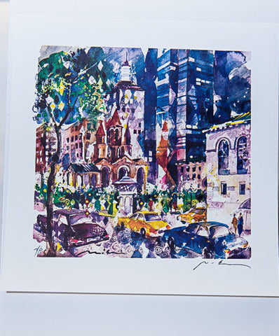 Trinity Church Watercolor Print