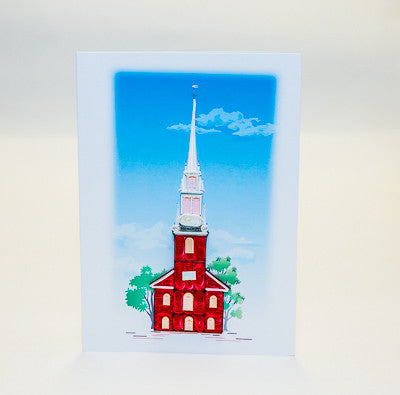 "Old North ""Quilled"" card"
