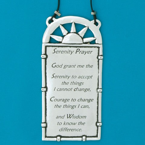 Pewter Serenity Prayer Plaque