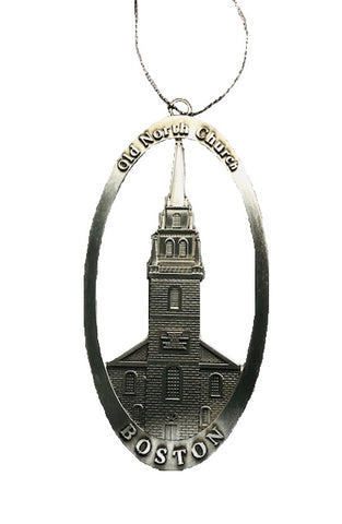 Oval Old North Church Ornament