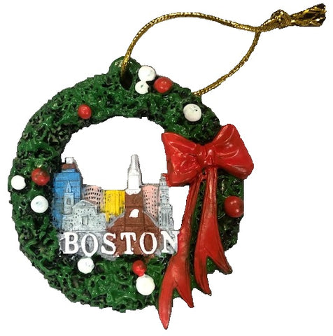 Boston Sites Wreath Ornament
