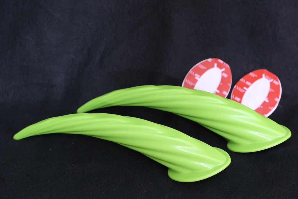 BRAND NEW 11 inch Stick on HORNS for helmets, Lime Green, Red, Black, Blue, Pink