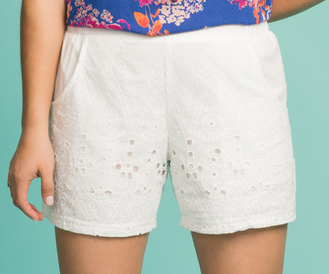Eyelet You Into My Heart Shorts