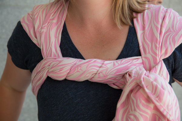 """Spun Sugar"" Waves Woven Wrap - Bijou Wear Woven Wraps and Ring Slings baby carrier"