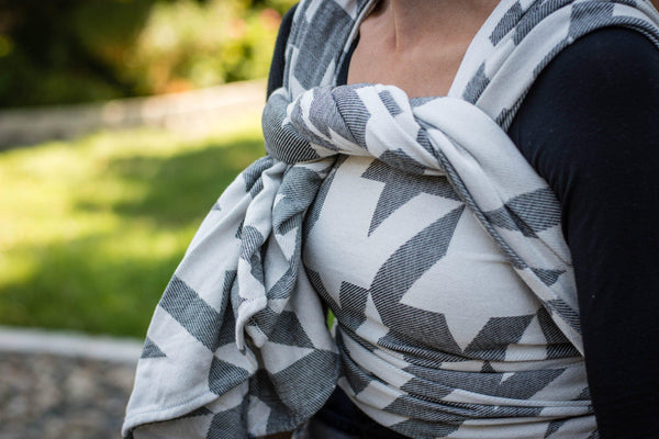 "Baskerville ""Shadow"" - Bijou Wear Woven Wraps and Ring Slings baby carrier"