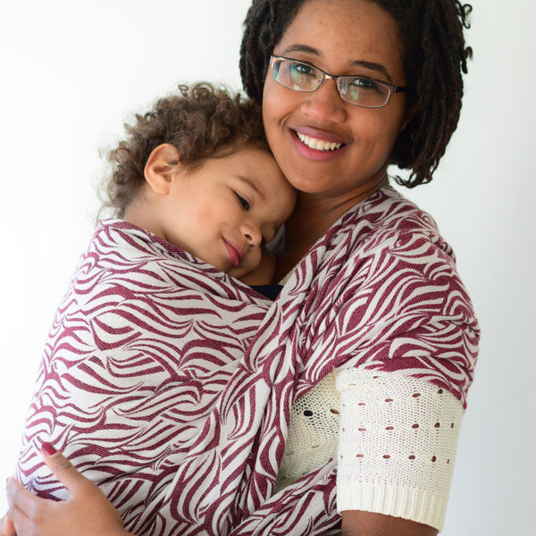 """Cranberry"" Waves *Available Friday @10am CST* - Bijou Wear Woven Wraps and Ring Slings baby carrier"