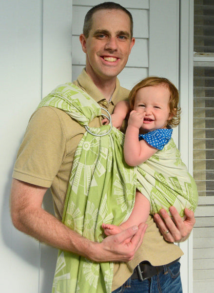 "Windmills ""Field of Dreams"" - Bijou Wear Woven Wrap baby carrier"