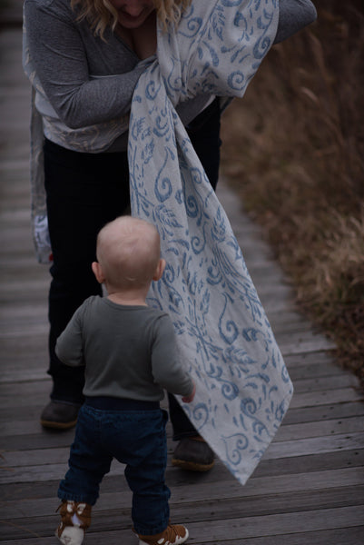 "Heartsong ""Serenity"" Woven Wrap - Bijou Wear Woven Wraps and Ring Slings baby carrier"