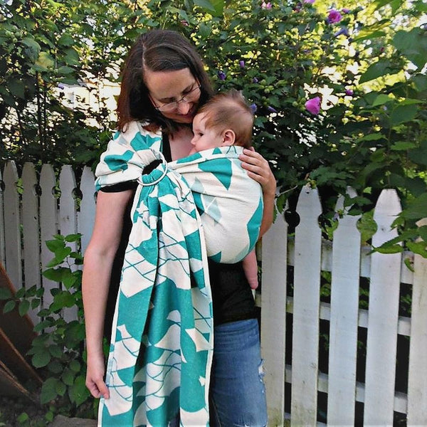 Decadence Surf's Up Ring Sling-Woven Wraps and Ring Slings-Bijou Wear baby carrier babywearing