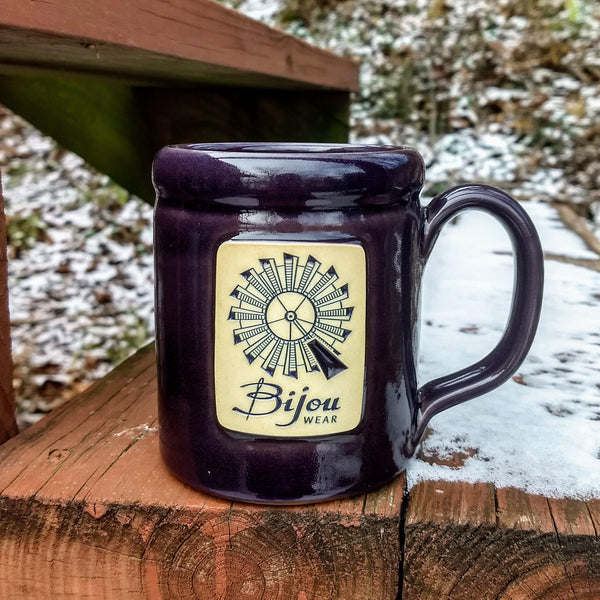 Plum Windmill Camper Mug - Bijou Wear Gear baby carrier