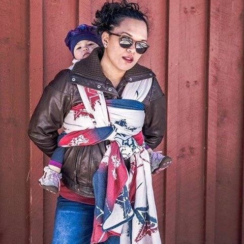 "Anthem ""Rock and Roll"" - Bijou Wear Woven Wraps and Ring Slings baby carrier"