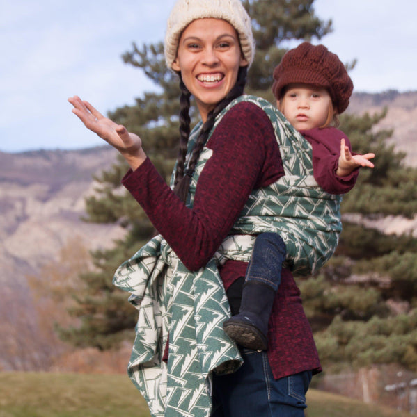 """Adirondack"" Mountains PREORDER - Bijou Wear Woven Wraps and Ring Slings baby carrier"