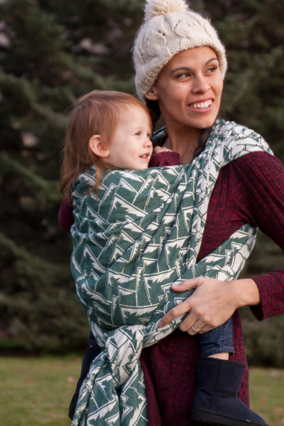 """Adirondack"" Mountains - Bijou Wear Woven Wraps and Ring Slings baby carrier"