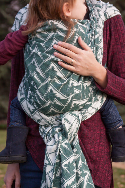 "Mountains ""Adirondack"" Woven Wrap - Bijou Wear Woven Wraps and Ring Slings baby carrier"