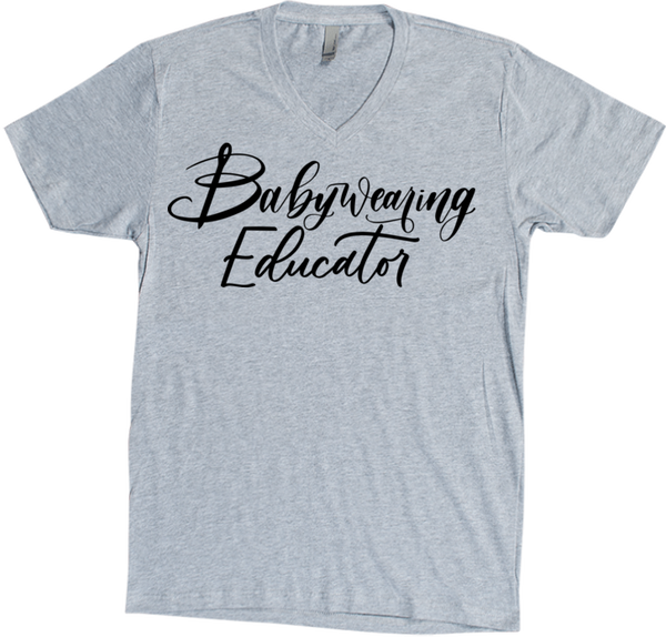 Educator Vee (Black Script) - Bijou Wear T-Shirts baby carrier