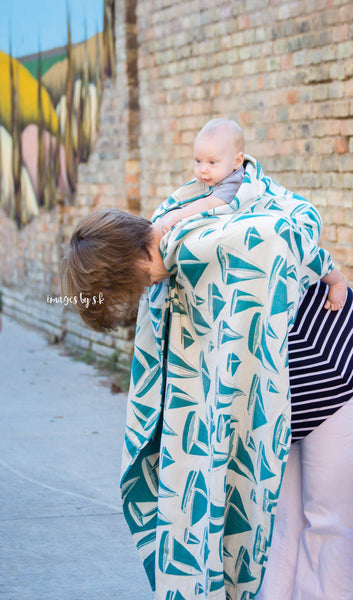 "Newport ""Marina"" - Bijou Wear Woven Wraps and Ring Slings baby carrier"