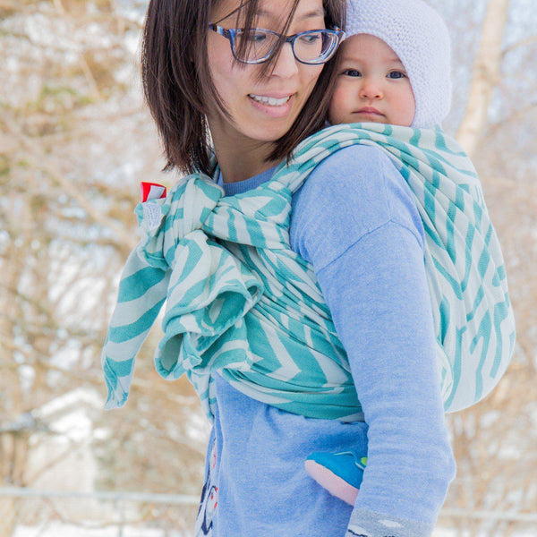 "Misfit ""Mermaid"" - Bijou Wear Woven Wraps and Ring Slings baby carrier"