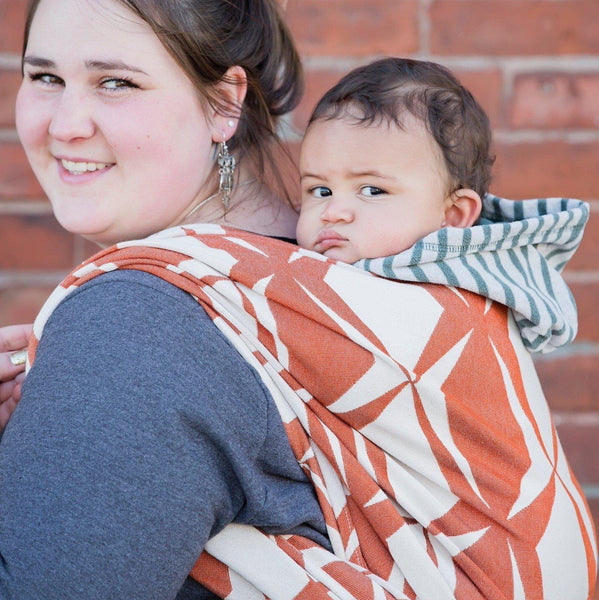 "Roxy ""Austin"" - Bijou Wear Woven Wraps and Ring Slings baby carrier"
