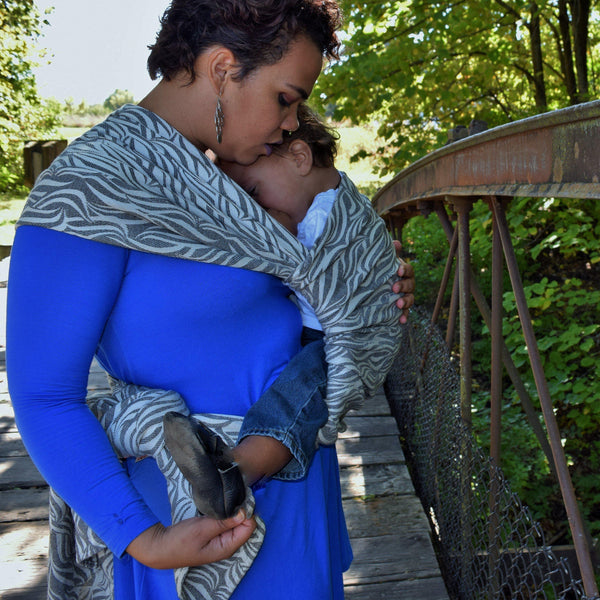 """Northern"" Waves - Bijou Wear Woven Wraps and Ring Slings baby carrier"
