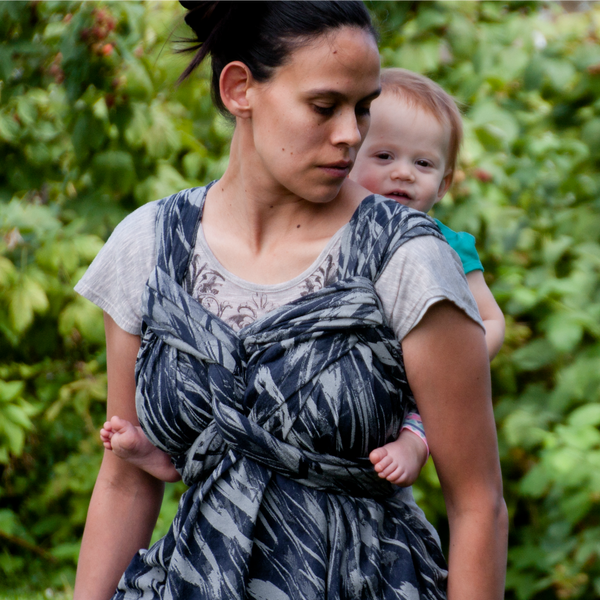 "Abstract ""Nightfall"" - Bijou Wear Woven Wraps and Ring Slings baby carrier"