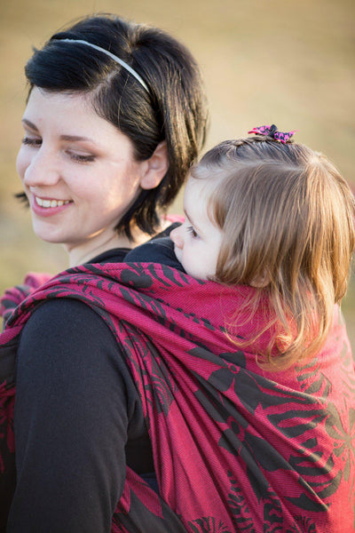 "Wildthing ""Valentine"" - Bijou Wear Woven Wraps and Ring Slings baby carrier"