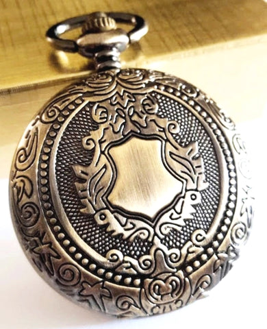 Gold Pocket Watch Antique Ivory Dial Traditional