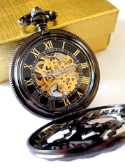 Black Pocket Watch Celtic