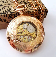 Rose Gold Celtic Pocket Watch