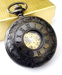 Imperial Black Pocket Watch