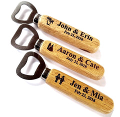 Wood Bottle Opener Personalized Lots Event Branded Gifts Wedding Guest or Party Favours