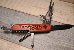 Pocket Knife Multi Tool with Wood Handle Custom engraving Wholesale Lots of 20