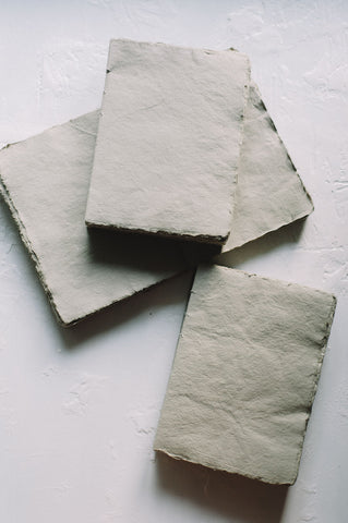French Handmade Paper Gris Pâle Notebooks