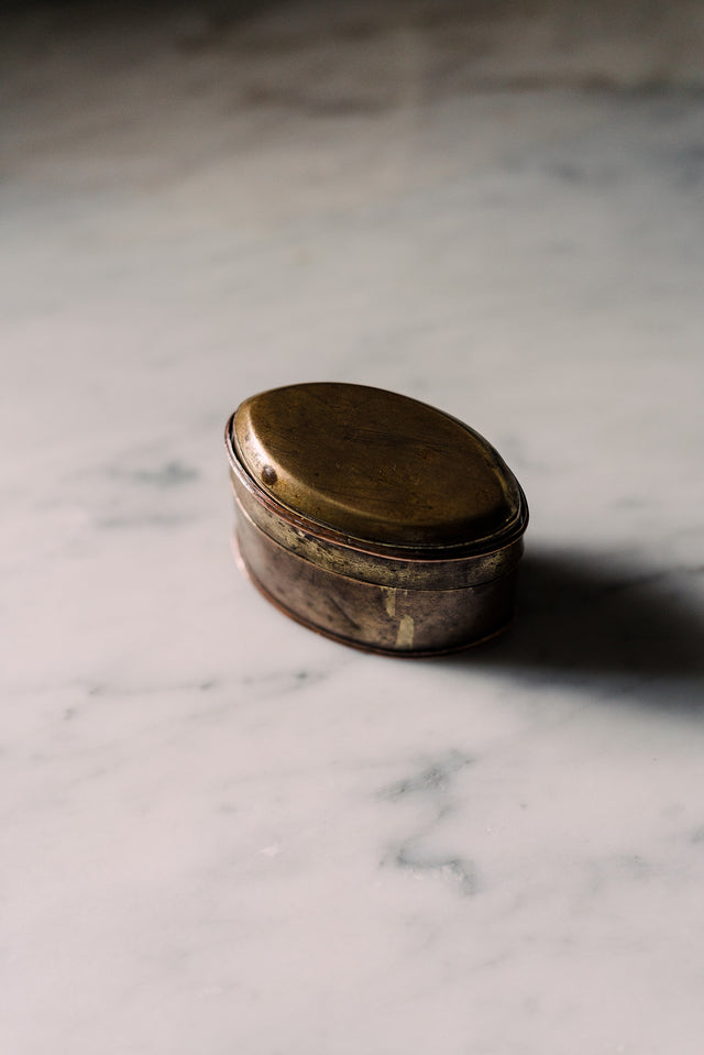Antique English Brass Snuff Box
