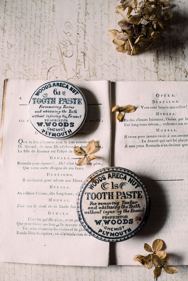 Antique English Paste Lids