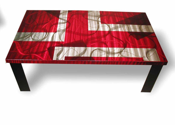 Scarlet Rectangle Table