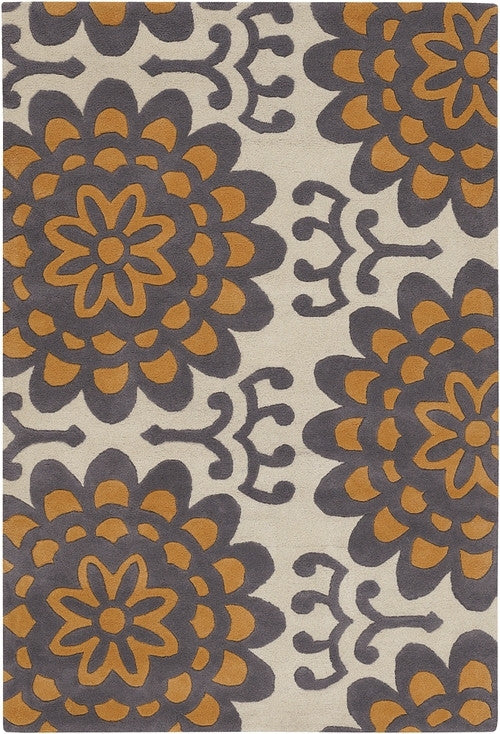 Wallflower Area Rug, Orange