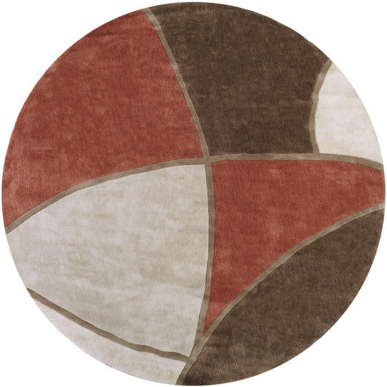 Cosmopolitan Hand Tufted Rug, Round Red