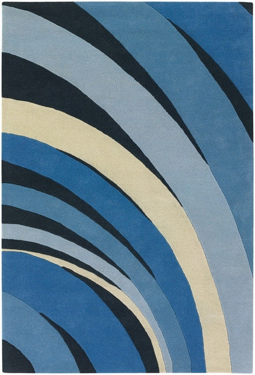 Counterfeit Area Rug, Blue